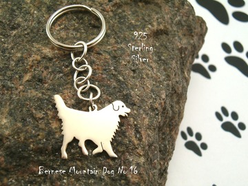 Selling: Keyring Bernese Mountain Dog * 925 sterling silver