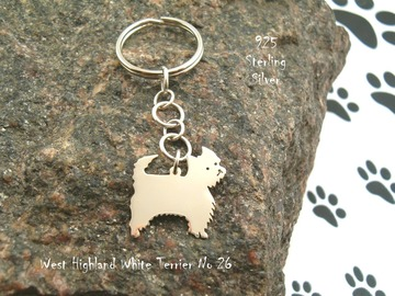Selling: Keyring West Highland White Terrier * 925 sterling silver