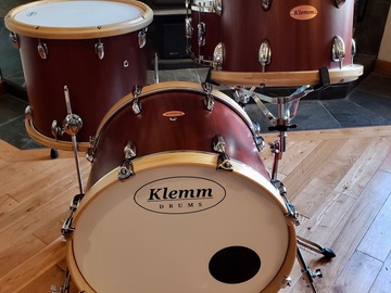 Selling with online payment: Klemm Drums Solid Sapele Four Piece Drum Kit