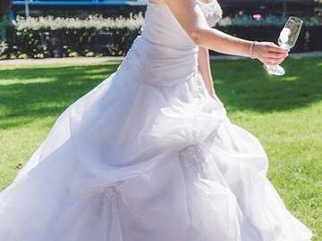 Ilmoitus: Sincerity Bridal A-linjainen tylliunelma, koko 36-38
