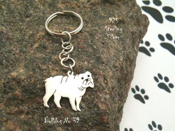Selling: Keyring Bulldog * 925 sterling silver