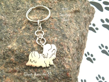 Selling: Keyring Lhasa Apso * 925 sterling silver