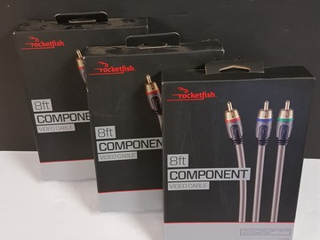Buy Now: Audio Video Lot Rocketfish  (8 ft.) Component Cables and More