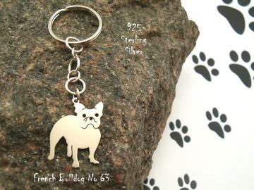Selling: Keyring French Bulldog * 925 sterling silver