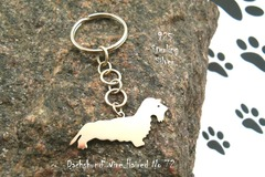 Selling: Keyring Dachshund Wire Haired * 925 sterling silver