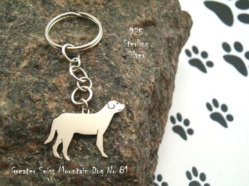 Selling: Keyring Greater Swiss Mountain Dog * 925 sterling silver