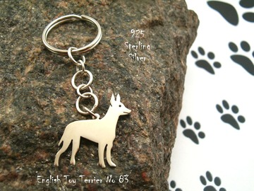 Selling: Keyring English Toy Terrier * 925 sterling silver