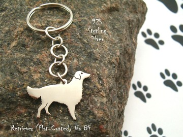 Selling: Keyring Flat Coated Retriever * 925 sterling silver
