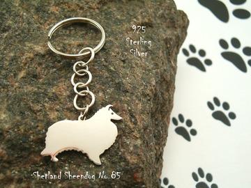 Selling: Keyring Shetland Sheepdog Sheltie * 925 sterling silver