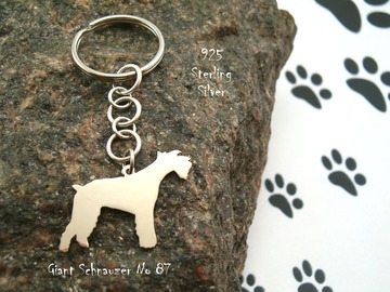 Selling: Keyring Giant Schnauzer * 925 sterling silver
