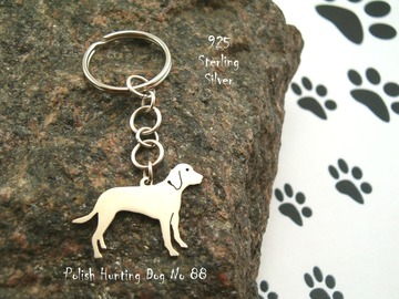 Selling: Keyring Polish Hunting Dog * 925 sterling silver