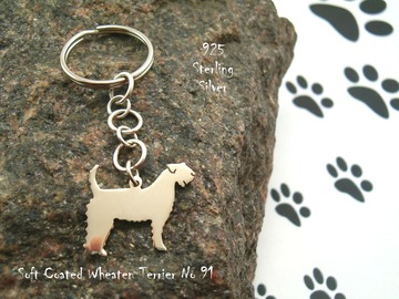 Selling: Keyring Soft Coated Wheaten Terrier * 925 sterling silver