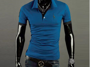 Vente avec paiement en ligne: New Man Polo Shirt Mens Casual Deer Embroidery Cotton Polo