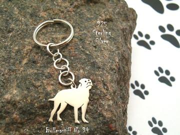 Selling: Keyring Bullmastiff * 925 sterling silver