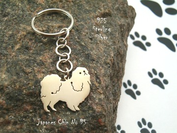 Selling: Keyring Japanese Chin * 925 sterling silver