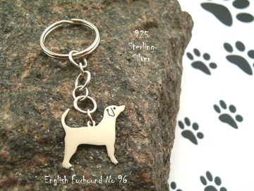 Selling: Keyring English Foxhound * 925 sterling silver
