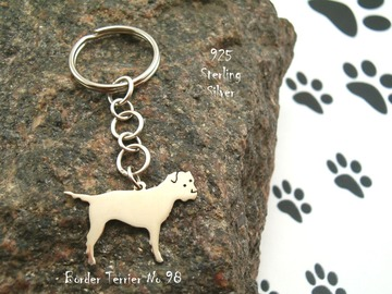 Selling: Keyring Border Terrier * 925 sterling silver