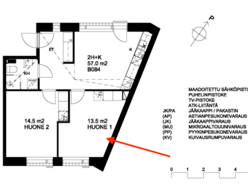Annetaan vuokralle: [SHORT-TERM] Room in roomie apartment in Välimerenkatu 5B