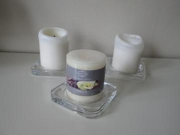 Ilmoitus: Ikea Glasig-kynttilänalutat n. 50kpl