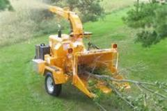 Renting out equipment (w/ operator): Wood Chipper