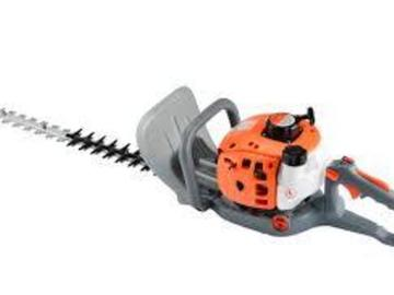 Renting out equipment (w/ operator): Hedge trimmer with operator
