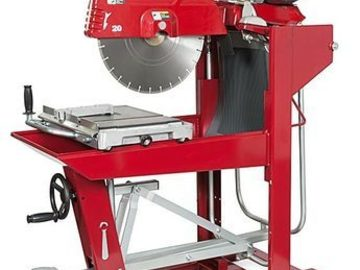 Renting out equipment (w/ operator): Block saw with operator