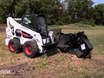 Renting out equipment (w/ operator): Stump grinder attachment for a tractor