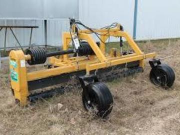 Renting out equipment (w/ operator): 6 ft. Harley Rake attachment for a tractor