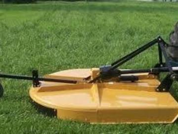 Renting out equipment (w/ operator): Brush hog attachment for a tractor