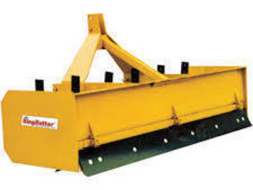 Renting out equipment (w/ operator): Box blade attachment for tractor