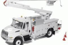 Renting out equipment (w/ operator): Boom truck with operator