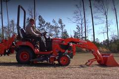 Renting out equipment (w/ operator): 18 KUB BX Tractor E1 with attachments
