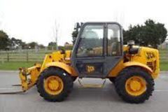 Renting out equipment (w/ operator): JCB Loadall with attachments