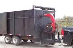 Renting out equipment (w/ operator): Vacuum trailer with truck