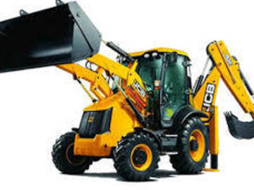 Renting out equipment (w/ operator): Backhoe with operator