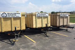 Renting out equipment (w/o operator): Trailer for construction waste with 15-yard capacity