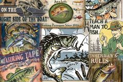Buy Now: 15 DIFFERENT USA FISHING TIN SIGN SET $9.95 EA. FREE SHIPPING