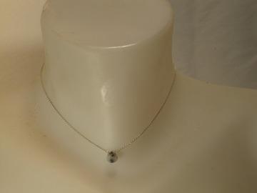 Sale retail:  collier en argent massif  avec une opale dendritique