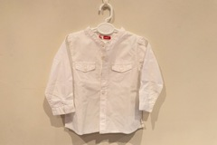 Selling with online payment: White shirt, age 6-9 Mths