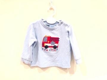 Selling with online payment: Fire chief   jumper, age 3-6 Mths