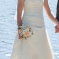 Ilmoitus: Olkaimeton elegantti White Rose hääpuku