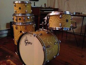 VIP Members' Sales Only: Vintage 60s Gretsch Roundbadge Drum Kit