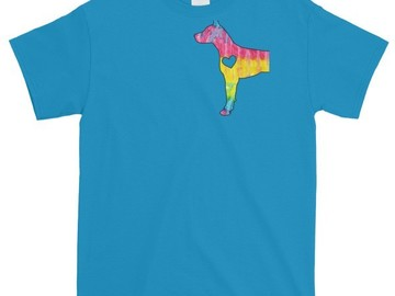 Selling: Colorful Great Dane Silhouette T-shirt