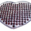 Buy Now: Deep Red Rhinestone Covered Heart Shaped Belt Buckle