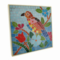 Buy Now: Tropical Mosaic Tile Parrot Wall Plaque