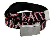 Buy Now: Black Polyester Web Bacon Belt w/Chrome Buckle
