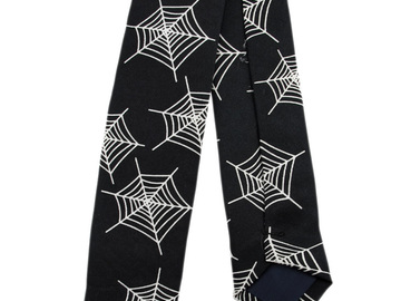 Buy Now: Spiderweb Print Skinny Tie Necktie Tie Spider Web Lot of 26