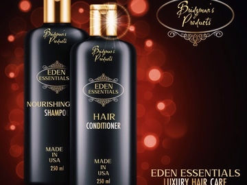 """Selling with online payment: Bridgman's Products""""Eden Essentials"""" Natural Hair Care Line"""