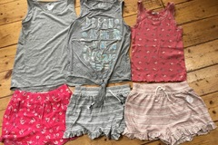 Selling with online payment: Summer T's and shorts bundle, age 10-11 Yrs