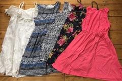 Selling with online payment: Summer dress bundle, age 8-10 Yrs